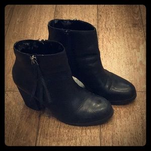 """Marc Fisher  Black 3"""" heel height short boots"""